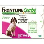 Frontline Combo  Perros 20-40 Kg 3 Pipetas