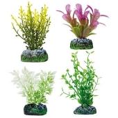 Decoracion Planta Plastico Aquatic Set Fucus, Ludwigia y Alternanthera