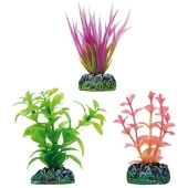 Decoracion Planta Plastico Aquatic Set Higrofila,Acorus Lila y Bacopa