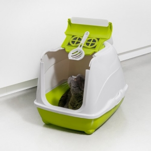 Caseta Gatos Flip Cat Large Verde