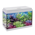 Kit Acuario Aqualed 33 con Filtro Optimus 200 Blanco