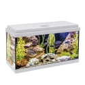 Kit Acuario Aqualed 64 con Filtro Optimus 200 Blanco